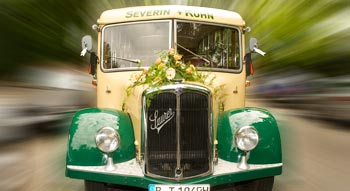 Vintage bus hire Berlin: SAURER vintage bus