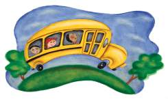Child's drawing of school bus