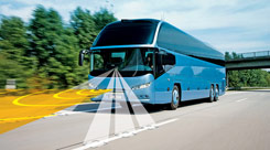Neoplan Cityliner with adaptive cruise control and lane guard system